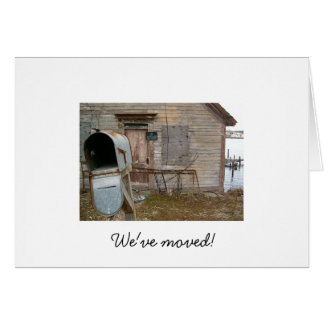 We've moved! note card