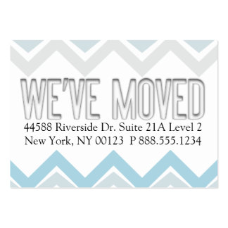"""""""We've Moved"""" Notification Label Business Card"""
