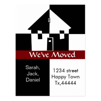 we've moved postcard