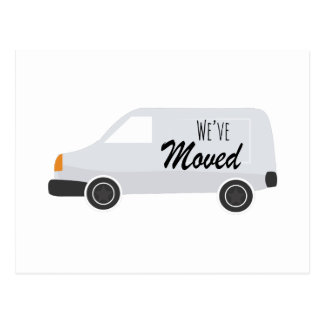 Weve Moved Postcard