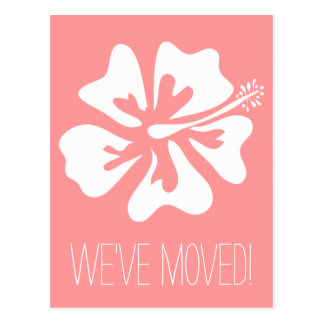 We've moved postcards with Hibiscus flower Postcard