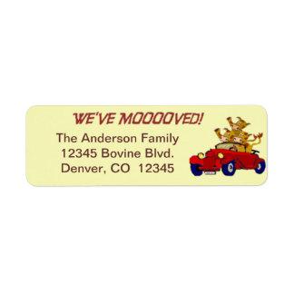 We've moved return address label