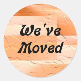 We've Moved Round Sticker