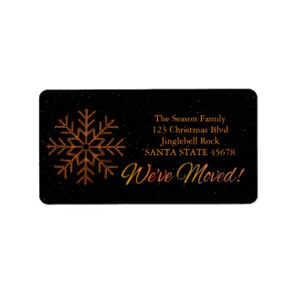 We've Moved x-mas Crystal Light Address Label