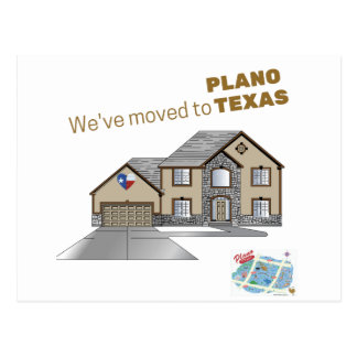 We've moves to Plano Texas Postcard