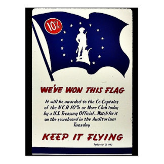 We've Won This Flag Keep It Flying Postcard
