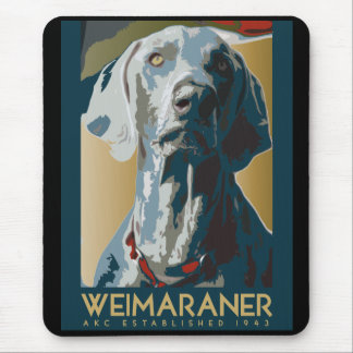 Wewimaraner Nation : 1943 Weimaraner Mouse Mat