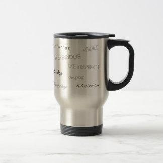 Weybridge Fonts Travel Mug