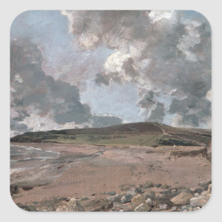 Weymouth Bay with Jordan Hill, c.1816 (oil on canv Square Sticker