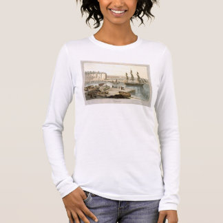 Weymouth Harbour, from 'A Voyage Around Great Brit Long Sleeve T-Shirt