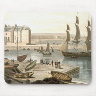 Weymouth Harbour, from 'A Voyage Around Great Brit Mouse Mat