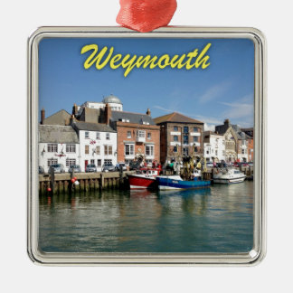 Weymouth - Professional photo. Silver-Colored Square Decoration