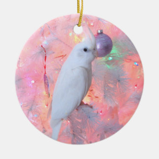WF Lutino Cockatiel in the Christmas Tree Ornament