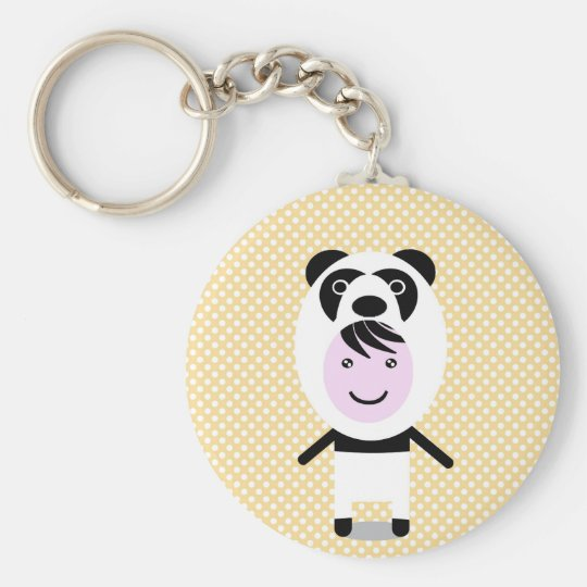 WFP panda Basic Round Button Key Ring