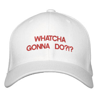 whacha gonna do hat embroidered hat
