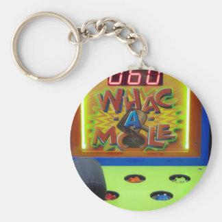Whack a Mole Basic Round Button Key Ring