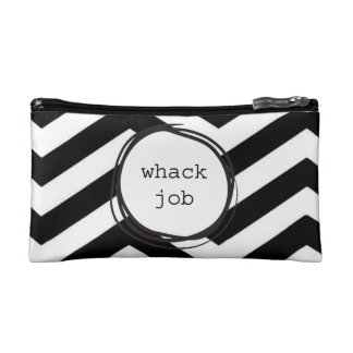 Whack Job Crazy Funny Cosmetic Bags