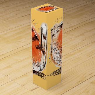 Whacky orange cartoon cat wine box