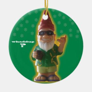Whaddup Gnome ornament