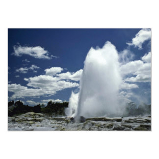 Whakarewarewa, Pohutu geyser, Rotorua, New Zealand 13 Cm X 18 Cm Invitation Card
