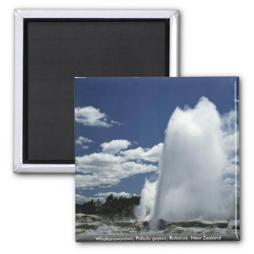 Whakarewarewa, Pohutu geyser, Rotorua, New Zealand Magnet