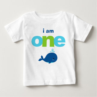 Whale 1st Birthday T-shirt Toddler Baby Kid