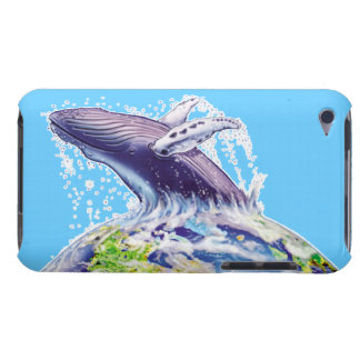 whale and earth environment earth day art barely there iPod covers
