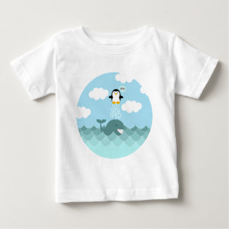 Whale and Penguin Best of Friends Baby T-Shirt