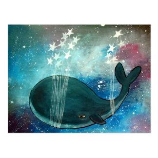 Whale Art Whimsical Postcard Cute Artwork