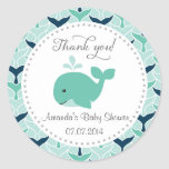 Whale Baby Shower Thank You Stickers