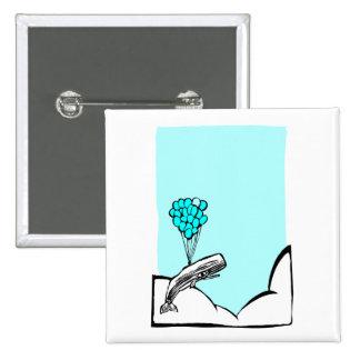 Whale Balloon #2 15 Cm Square Badge