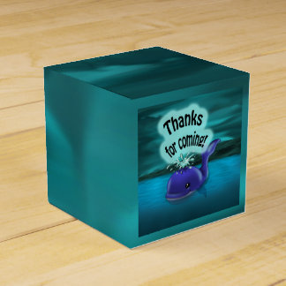 """""""Whale Birthday Favor Box Classic 2 x 2"""" Wedding Favour Boxes"""