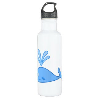 Whale, Blue. 710 Ml Water Bottle
