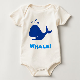 Whale! Blue. Customizable Baby Bodysuit