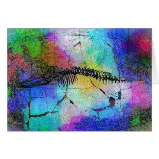 Whale Bones in Psychedel Greeting Card (blank)