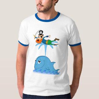 Whale & captain redbeard t shirt