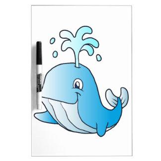 whale cartoon dry erase white board