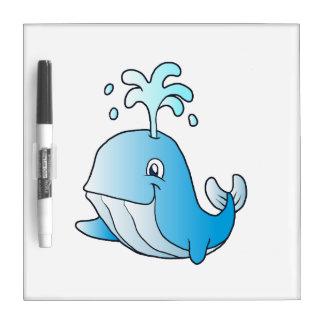 whale cartoon Dry-Erase whiteboard