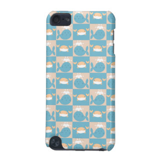 Whale Crab Checkered Pattern iPod Touch 5G Covers