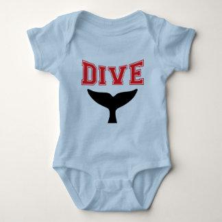 Whale Design SCUBA Dive Infant Baby Baby Bodysuit