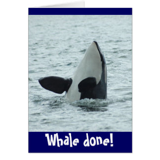 Whale done! Congrats card