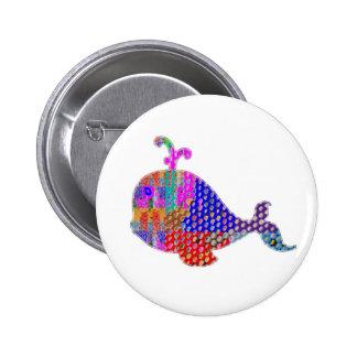 WHALE Fish Sea Creature 6 Cm Round Badge