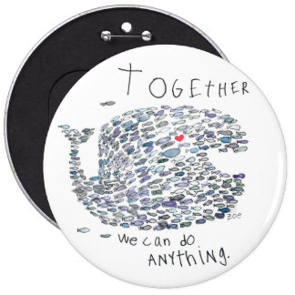 whale for a cause! 6 cm round badge