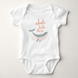 Whale Hello Baby Bodysuit