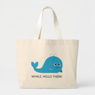 Whale, Hello There! Large Tote Bag