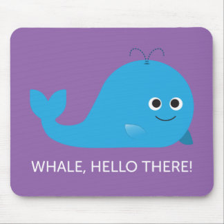 Whale, Hello There! Mouse Mat