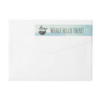 Whale Hello There Nautical Pun | Return Address Wrap Around Label