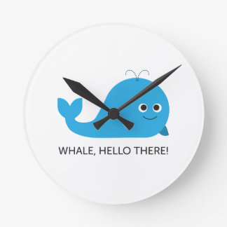 Whale, Hello There! Round Clock