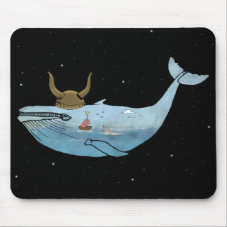 Whale illustration mouse mat