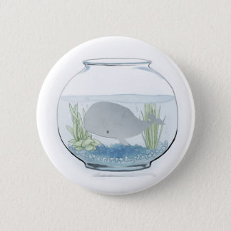 Whale in a Fishbowl 2 6 Cm Round Badge